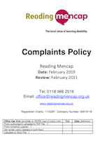 Complaints policy-FEB19
